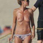 Heidi Klum topless in Corsica