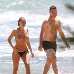lara bingle nude 150x150 Lara Bingle   topless and nude on the beach   26th August 2014