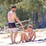 lara bingle nude10 150x150 Lara Bingle   topless and nude on the beach   26th August 2014
