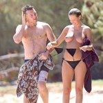 lara bingle nude2 150x150 Lara Bingle   topless and nude on the beach   26th August 2014
