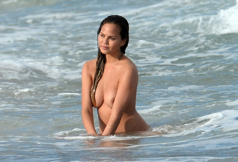 Chrissy Teigen - Topless Photoshoot At Miami Beach, march ...